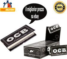 KIT 2500 CARTINE OCB NERO PREMIUM BLACK CORTE DOPPIE SCATOLA BOX DA 25 LIBRETTI