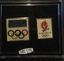 Set of Sports Illustrated pins from Albertville Olympics 1992