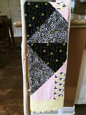 The Bee'S Knees ~ New Handmade Baby Girl / Toddler Quilt Free Shipping!