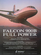 1991-1992 PUB DASSAULT AVIATION FALCON 900B BUSINESS JET BIZ JET ORIGINAL AD
