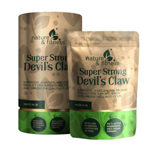 Devils Claw Capsules 5000mg Natural 500mg 10:1 Strong Effective Best Extracts