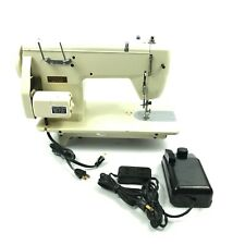 White Lwc-2 Sewing Machine Heavy Duty Free Arm Aged White w/Pedal ✅ 7.A6