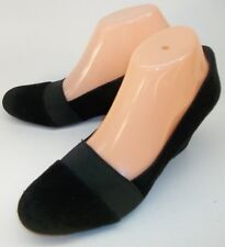 Adrienne Vittadini SEABROOK Womens US 7.5 Black Suede Slip-On Wedge Heel Shoes