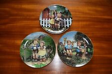 3 Hummel Decorator Little Companions Plates Country Crossroads, Come Back Soon