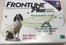 Frontline Plus for Large Dogs 45-88lbs (20-40kg) ~ 6 Month Supply ~ New In Box