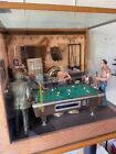 Michael Garman Pool Hall Blues diorama sculpture