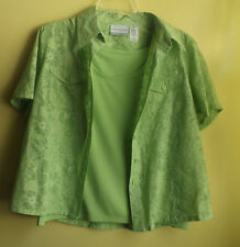 ALFRED DUNNER  Ladies Green Blouse ( Shirt ) Size 12 Petite / NWT