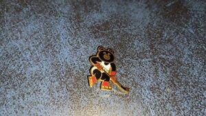 Original 1980 Misha Bear Russian Olympic Hockey Pin