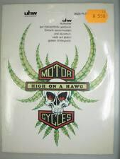 alter Motorrad Aufkleber 1970er Jahre UHW Sticker 14,5cm x 18cm