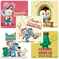 Sheriff Callie Stickers x 5 - Toby Peck Sparky - Sheriff Callie Cowgirl Party