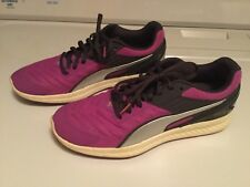 New Puma Ignite Unisex Running Shoes Sneakers Trainers Purple Mesh  Reflective 9M d9fa90b4d