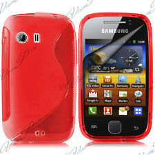 CASE COVER COVERS TPU S SILICONE GEL RED FOR Samsung Galaxy Y NEO GT-S5360