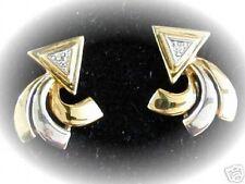 Orecchini a bottone frecce diamante 0,02ct NUOVO! VK EUR 390,-