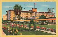 Postcard Ambassador Hotel Los Angles California