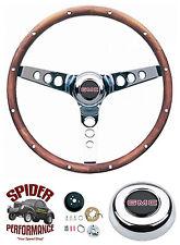 """1948-1959 GMC pickup steering wheel 13 1/2"""" WALNUT Grant steering wheel"""
