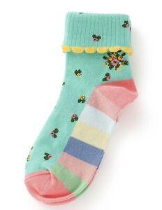 GIRLS MATILDA JANE Brilliant daydream Feet Wave Ankle Socks size M Medium 9-13