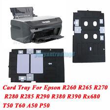 Plastic PVC ID Card Tray For Epson Inkjet Printer R390 Rx680 EP705 L800 L801 635