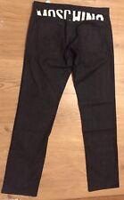Moschino Black Stretch Denim Jeans with Back Logo Detail W36 £187