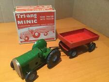 Tri-ang Minic Toys Farm Tractor with Trailer Tinplate GCIB
