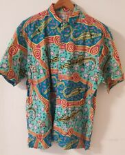 Patagonia vintage Hawaiian Aloha shirt button up (men, green/multi, XL)
