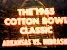 1965 Cotton Bowl Football DVD ARKANSAS vs NEBRASKA Broyles Devaney SOUND