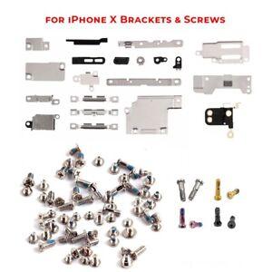 For iPhone X Bracket + Screw Set Inner Metal Shields Holding Brackets Screws