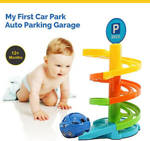My First Car Park Auto Parking Garage Set Children Cars Play Toy Xmas Gift New