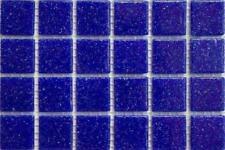 200 - 203 mat bleu foncé vitrifiée verre mosaïque 10mm Tuiles A20