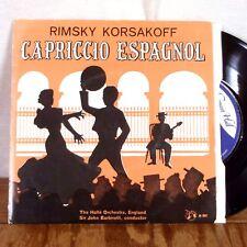 "Rimsky Korsakoff Capriccio Espagnol Sir John Barbirolli 45 7"" UK Concert Hall M-"
