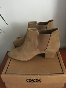 Brand New - ASOS - Beige Leather Ankle Boots - Size 7