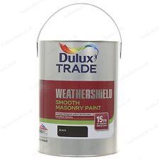 Dulux Trade Weathershield - Exterior - Smooth Masonry Paint - Black - 5L