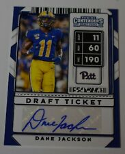 2020 Contenders Picks DANE JACKSON Draft Ticket AUTO Blue Football Card #269