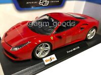 Maisto 1:18 Scale - Ferrari 488 GTB - Red - Diecast Model Car