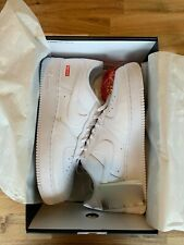 Nike Supreme Air Force 1 Low White   Size 11 US   100% Authentic Deadstock