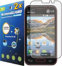 2x Clear LCD Screen Protector LG Optimus Zone II 2 VS415 VS415PP / LG Fuel L34C