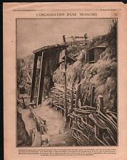 WWI Tranchées Trenches Poilus Piscine Swimming pool France 1916 ILLUSTRATION