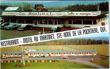 STE-ANNE DE LA POCATIERE, PQ Canada MOTEL AU MARTINET  c1950s  Cars Roadside