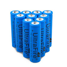 10PC UltraFire 3.7V 3000mAH Li-ion Rechargeable 18650 Battery For Flashlight USA