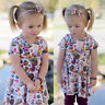 Toddler Kids Baby Girl Thanksgiving Floral Dress Party Sundress Outfits Clothes