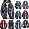 Men Camo Windbreaker Hoodie Hooded Sweatshirt Zip Sport Gym Jacket Outwear New
