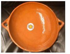 "Cazuela Rellena Bowl 8.5""X2.5"" Mexican Casserole Deep Dish Clay Barro"
