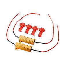 2x Resistencia Moto LED Luz Señal Vuelta Intermitente 50W 6Ohm Resistor de Carga