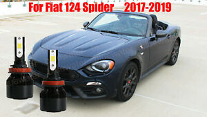 LED For Fiat 124 SPIDER 2017-2019 Headlight Kit H11 White CREE Bulbs Low Beam