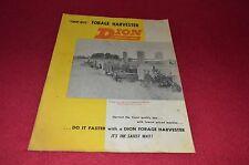 Dion Forage Harvester Dealer Brochure YABE13