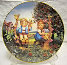 "Danbury Mint Mj Hummel Plate Collection Little Companions ""Apple Tree Boy and Gi"