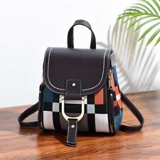 Women's Leather Crossbody Mini Backpack Girl Teenager Shoulder Bag School Travel