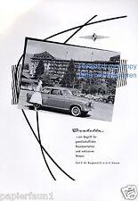 Borgward Isabella Reklame von 1959 Werbung Repräsentation Dame 50er Kleid ad ßß