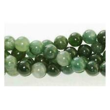Moss Agate Round Beads 10mm Green 38 Pcs GEMSTONES DIY Jewellery Making Crafts
