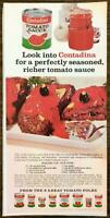 1968 Contadina Tomato Sauce Print Ad Burgers You Flip Over