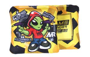 Brand New Game Changer Steady 2.0 Cornhole Bags Matt Morton Yellow 4 Bags